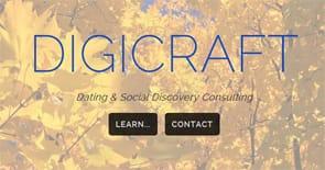 A screenshot of the Digicraft homepage
