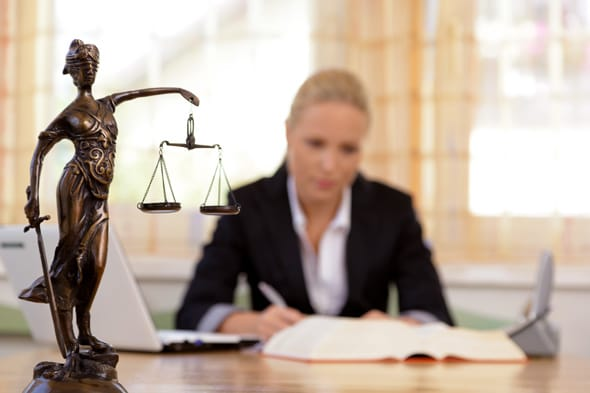 Photo of a lawyer at work