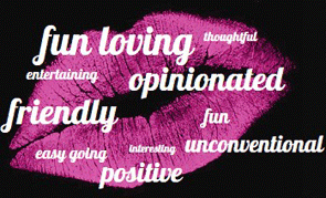 An example image of Pink Lobster Lip Words