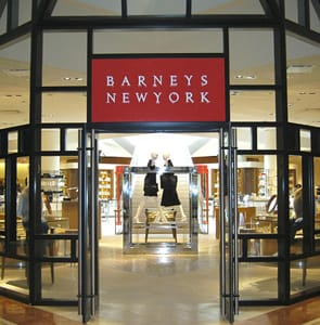 Photo of the Barney's New York store