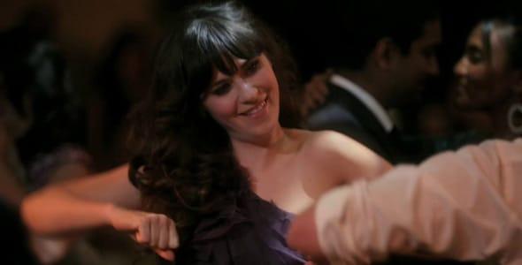 Photo of a single girl dancing at a wedding
