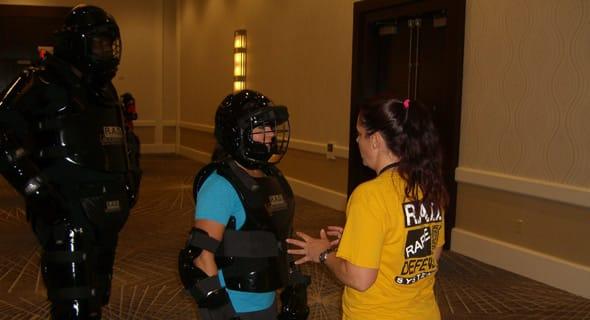 Photo of Casey Wood teaching a R.A.D. class