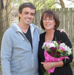 Photo of Steve Black and his mom on Mother's Day