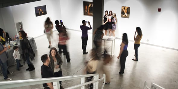 Photo of a gallery opening