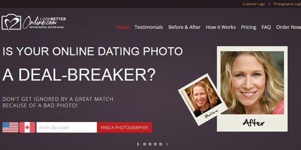Screenshot of the LookBetterOnline homepage