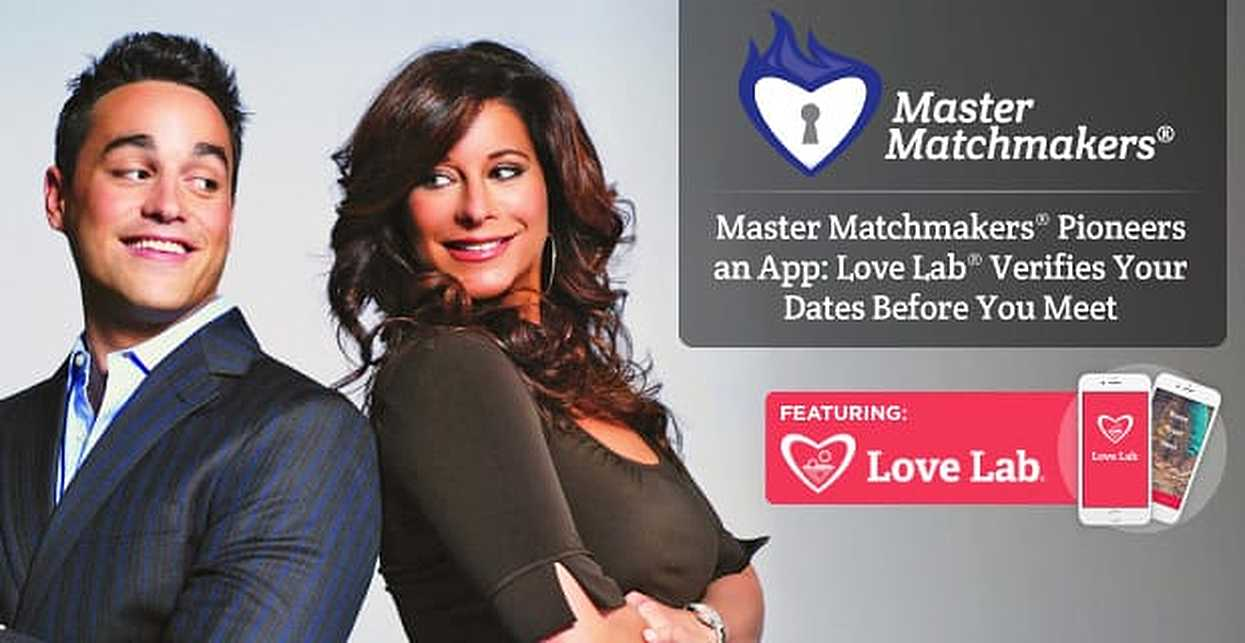 Master Matchmakers® Pioneers an App: Love Lab® Verifies Your Dates Before You Meet
