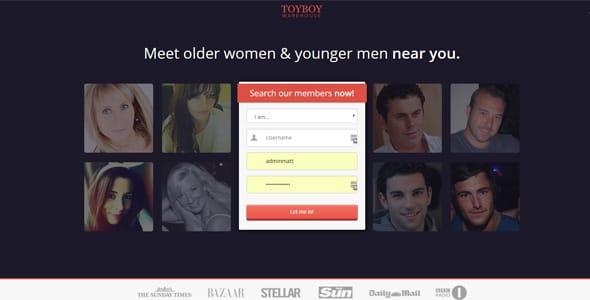 Screenshot of Toyboy Warehouse's homepage