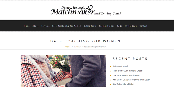 Screenshot of Julianne Cantarella's Date Coaching Page