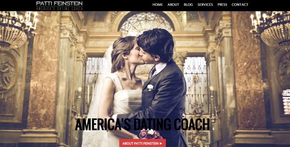 Screenshot of Patti Feinstein's dating coaching website
