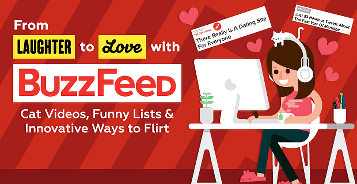 From Laughter to Love With BuzzFeed: Cute Cat Videos, Outrageously Funny Lists & Innovative Ways to Flirt (w/GIFs)