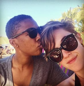 Photo of Lauren Morelli and Samira Wiley