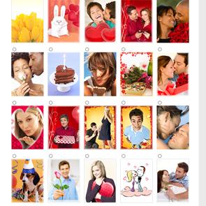 Screenshot of ClownDating.com Card Choices