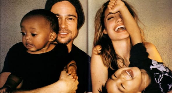 Photo of Brad Pitt and Angelina Jolie's family