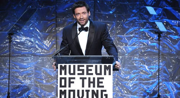 Photo of Hugh Jackman accepting an award