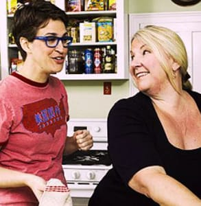 Photo of Rachel Maddow and Susan Mikula