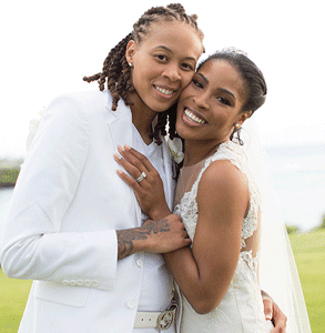 Photo of Seimone Augustus and Michelle LaTaya Varner
