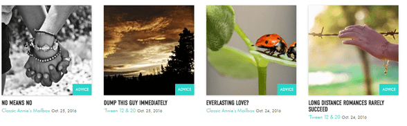 Screenshot of Creators publication offerings