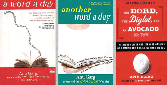 Photo of a collage of books written by Anu Garg