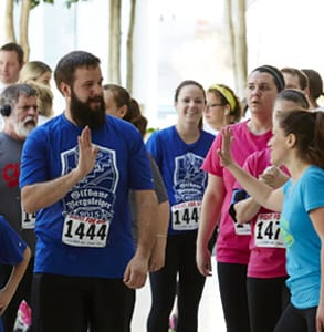 Picture of runners at an event sponsored by the American Lung Association
