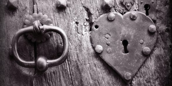 Photo of a heart lock