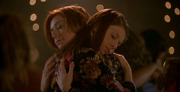 "Photo of Willow and Tara from ""Buffy the Vampire Slayer"""