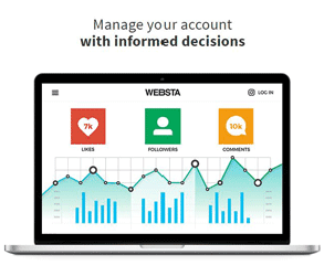 Screenshot of WEBSTA's analytics page