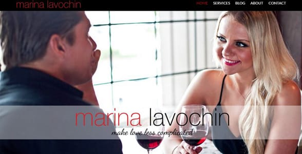 Screenshot of Marina Lavochin's homepage