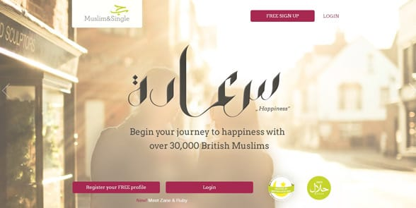 Screenshot of MuslimandSingle's homepage