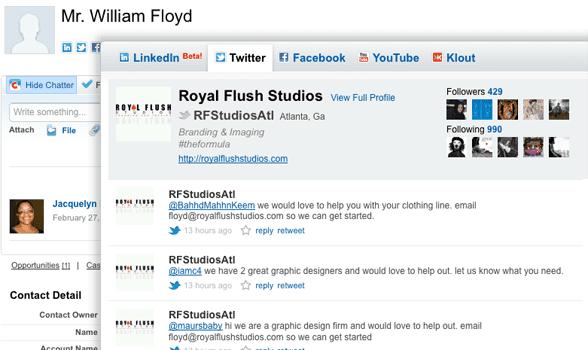 Screenshot of Tumblr's social media integration