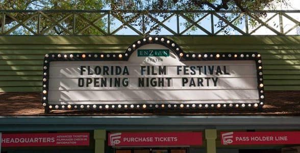Photo of the marquee at the Florida Film Festival