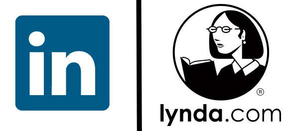 LinkedIn and Lynda.com logos