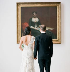Photo of Sarit and Michael at the Brooklyn Museum