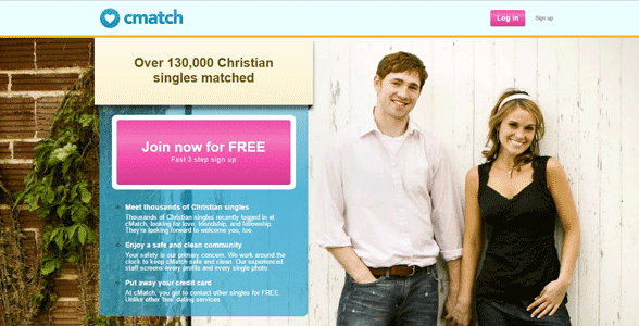 Screenshot of the cMatch homepage
