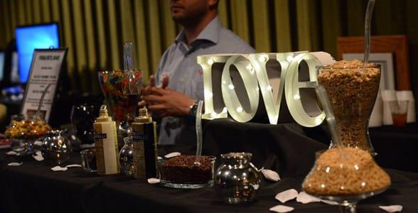 Photo of the dessert bar at the Florida Film Festival