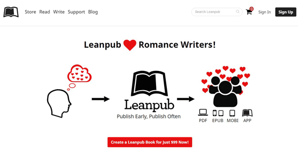Screenshot of a Leanpub landing page