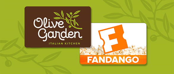 Screenshot of Olive Garden and Fandango logos
