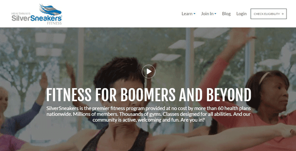 Screenshot of the SilverSneakers homepage