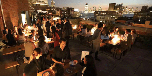 Photo of a City Harvest Happenings rooftop party