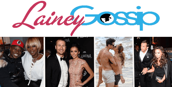 Photo of the Lainey Gossip Logo and a collage of celebrity couples