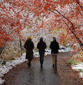 Photo of people walking in Red Butte Garden