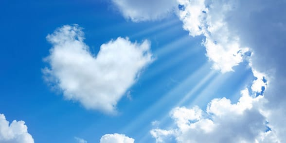 Photo of a heart in the sky