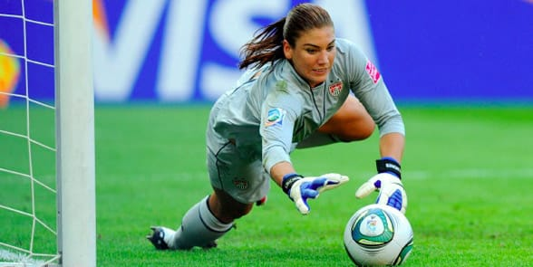Photo of Hope Solo playing soccer
