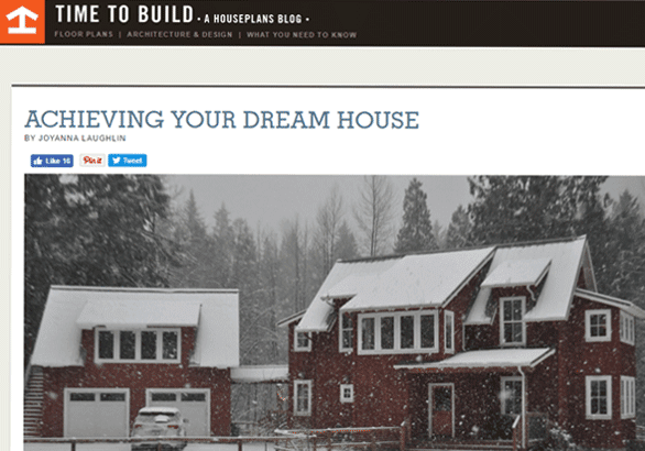 Screenshot of HousePlans.com's Time to Build blog