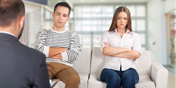 Photo of a couple at counseling