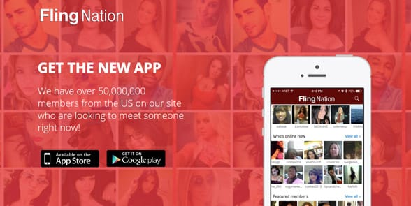 Screenshot of the Fling Nation homepage