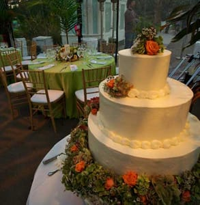 Photo of a wedding held at the Conservatory of Flowers