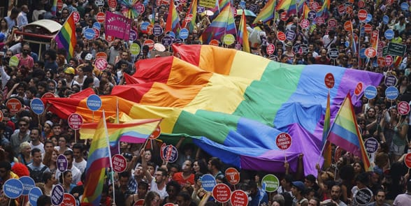 Photo of a gay festival