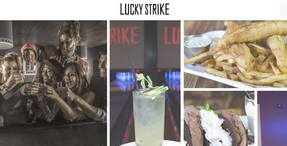 Screenshot of Lucky Strike's website