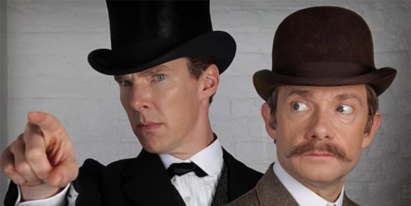 Photo of Sherlock and Watson