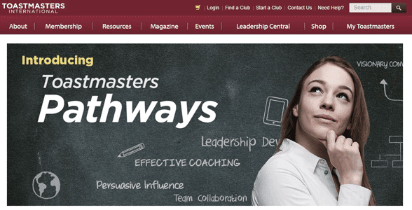 Screenshot of the Pathways Learning Experience webpage